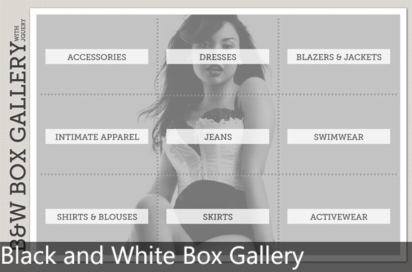 black and white box gallery